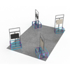 Custom 3x3 Aluminum Foldable Exhibition Stand Modular Exhibition Booth