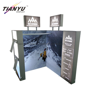 Aluminum Portable Modular China modular reusable Exhibition Booth 3X3