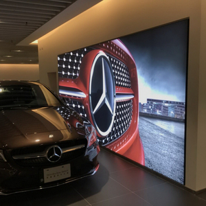 Silicone edge graphic LED backdrop frameless light box for famous Brand car backdrop