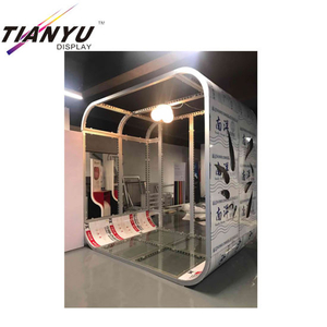 china 3x6m Custom Portable Advertising Display Stand For Standard Exhibition Booth