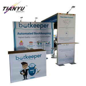 10X10 Cheap Aluminum Modular Exhibition Stand With Graphic
