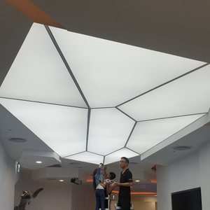 aluminium seg profile tension fabric extrusion customized shape ceiling light box