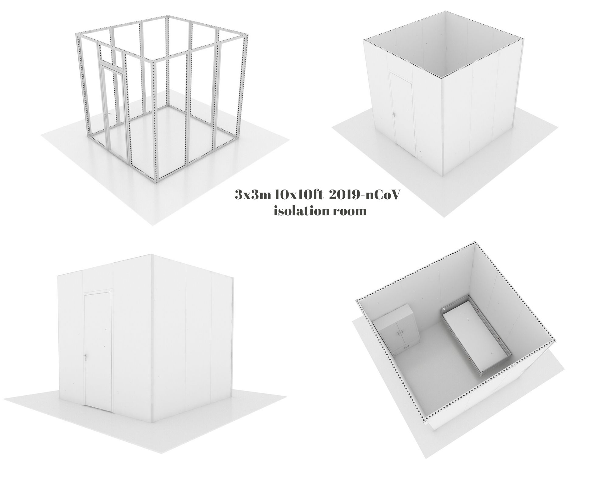 3x3x3 isolation room